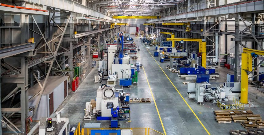 the interior metal manufacturing daylight the view from the top